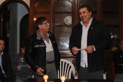 Presidente do Instituto Lions LD-9, CL Ademir Corrêa e Venerável Mestre da Loja Maçônica Campeche Ricardo Mendonça