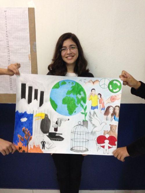 Ganhadora do cartaz da paz, Mariana Ceci