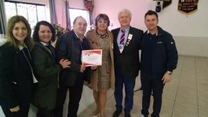 Presidente AL 2015/2016 CaL Luciane, Past Presidente CaL Marlene, CL Milton Muller, PDG CL Alberto e CaL Marli e CL André
